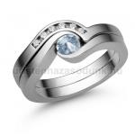 E204FK Akvamarin gyűrű