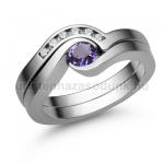 E204FM Ametiszt gyűrű