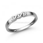E338FC Cirkónia köves gyűrű