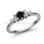E101FBB Fekete gyémánt gyűrű