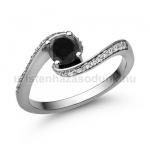 E103FBB Fekete gyémánt gyűrű