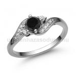 E107FBB Fekete gyémánt gyűrű