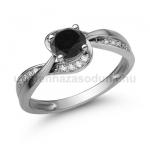 E108FBB Fekete gyémánt gyűrű