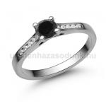 E109FBB Fekete gyémánt gyűrű