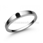 E10FBB Fekete gyémánt gyűrű