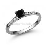 E110FBB Fekete gyémánt gyűrű
