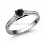 E111FBB Fekete gyémánt gyűrű