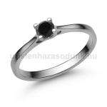 E113FBB Fekete gyémánt gyűrű
