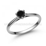 E114FBB Fekete gyémánt gyűrű