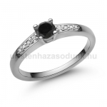 E115FBB Fekete gyémánt gyűrű