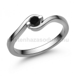 E116FBB Fekete gyémánt gyűrű