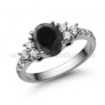 E117FBB Fekete gyémánt gyűrű