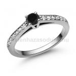 E118FBB Fekete gyémánt gyűrű