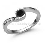 E119FBB Fekete gyémánt gyűrű