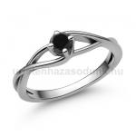 E120FBB Fekete gyémánt gyűrű