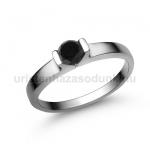 E13FBB Fekete gyémánt gyűrű