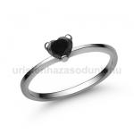 E15FBB Fekete gyémánt gyűrű