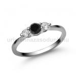E16FBB Fekete gyémánt gyűrű
