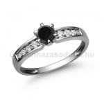 E17FBB Fekete gyémánt gyűrű