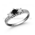 E18FBB Fekete gyémánt gyűrű