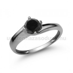 E19FBB Fekete gyémánt gyűrű