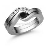 E204FBB Fekete gyémánt gyűrű