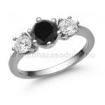 E205FBB Fekete gyémánt gyűrű