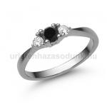 E208FBB Fekete gyémánt gyűrű