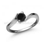 E20FBB Fekete gyémánt gyűrű