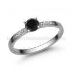 E210FBB Fekete gyémánt gyűrű
