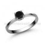 E21FBB Fekete gyémánt gyűrű