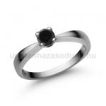 E23FBB Fekete gyémánt gyűrű