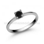 E25FBB Fekete gyémánt gyűrű