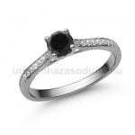E28FBB Fekete gyémánt gyűrű