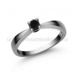E2FBB Fekete gyémánt gyűrű