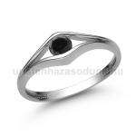 E302FBB Fekete gyémánt gyűrű