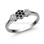 E314FBB Fekete gyémánt gyűrű