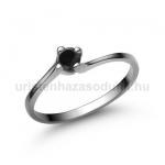 E34FBB Fekete gyémánt gyűrű