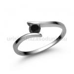 E3FBB Fekete gyémánt gyűrű