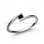 E7FBB Fekete gyémánt gyűrű