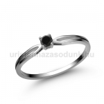 E8FBB Fekete gyémánt gyűrű