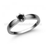 E9FBB Fekete gyémánt gyűrű
