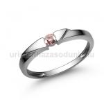 E12FZR Rózsaszín zafír gyűrű