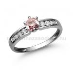 E17FZR Rózsaszín zafír gyűrű
