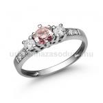 E18FZR Rózsaszín zafír gyűrű