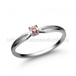 E8FZR Rózsaszín zafír gyűrű