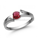 E324FR Rubin gyűrű