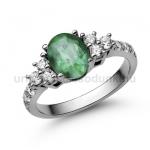 E117FS Smaragd gyűrű