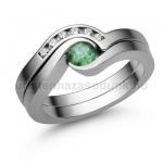 E204FS Smaragd gyűrű