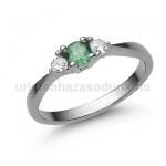 E208FS Smaragd gyűrű